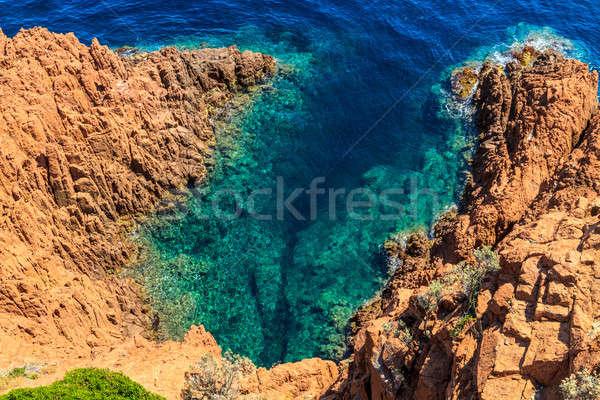 Beautiful Scenic Coastline on the French Riviera near Cannes, Fr Stock photo © Bertl123