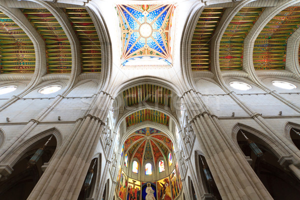 Interior of Almudena cathedral, Madrid, Spain Stock photo © Bertl123