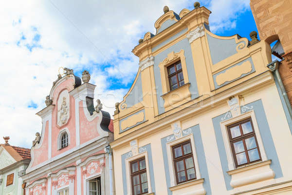 Facade of Renaissance houses in Telc Stock photo © Bertl123