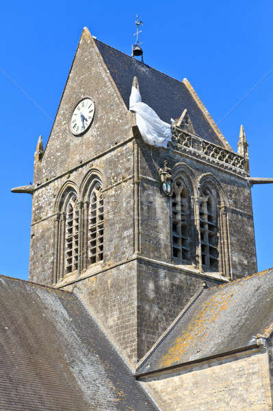 St. Mere Eglise, Normandy, France Stock photo © Bertl123