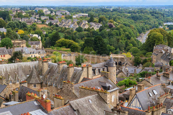 Dinan old town panoramic view, Brittany, France Stock photo © Bertl123