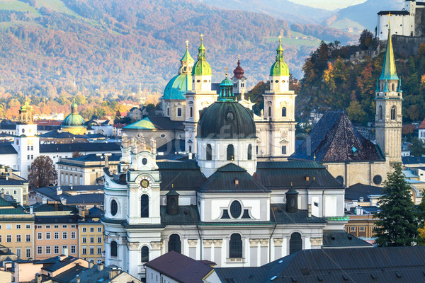 Austria interno città chiese cielo panorama Foto d'archivio © Bertl123