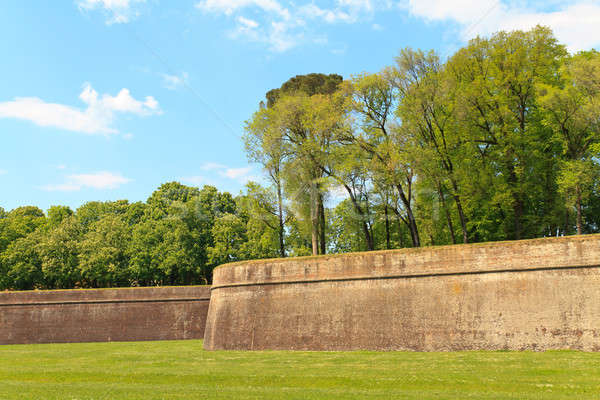 Lucca city wall fortifications in spring, Tuscany, Italy Stock photo © Bertl123