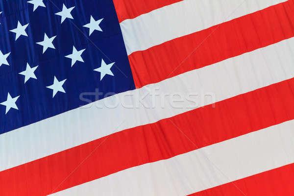Zászló Egyesült Államok Amerika részletek csillagok csillag Stock fotó © Bertl123