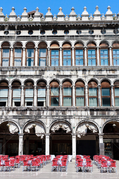 Venice - Piazza San Marco - Facade and arcades of old palazzo Stock photo © Bertl123