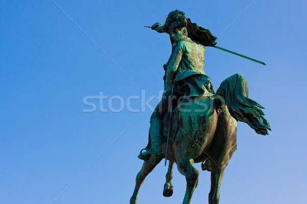 Statue of Archduke Charles of Austria before blue sky, Heldenplatz, Vienna, Austria Stock photo © Bertl123
