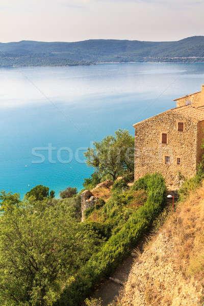 Stock photo: View over Lac de Sainte Croix, Verdon, Provence, France