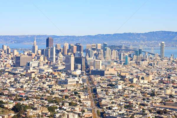 San Francisco Downtown from Twin Peaks Stock photo © Bertl123