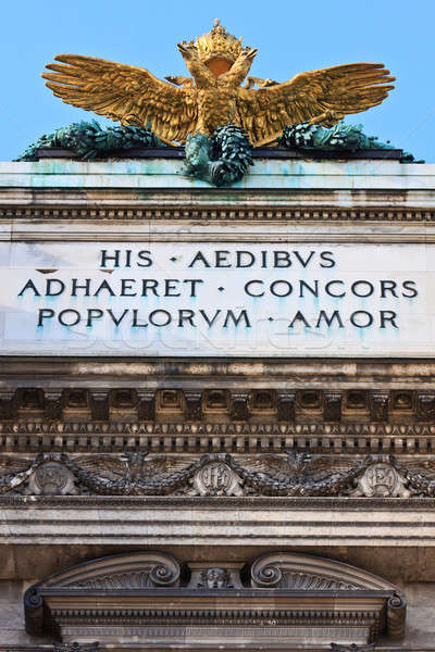 Double headed Eagle on Austrian Imperial palace (Hofburg) in vie Stock photo © Bertl123