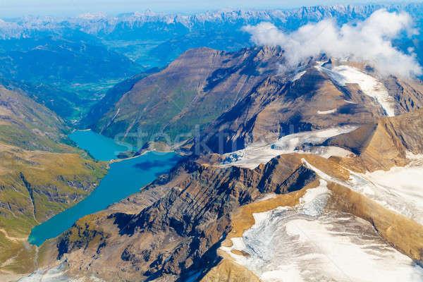 Víztározó tó légifelvétel Ausztria hegy terjedelem Stock fotó © Bertl123