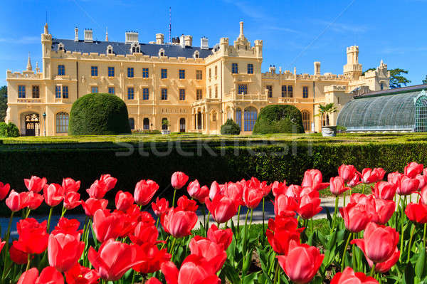 Lednice palace and gardens, Unesco World Heritage Site, Czech Re Stock photo © Bertl123