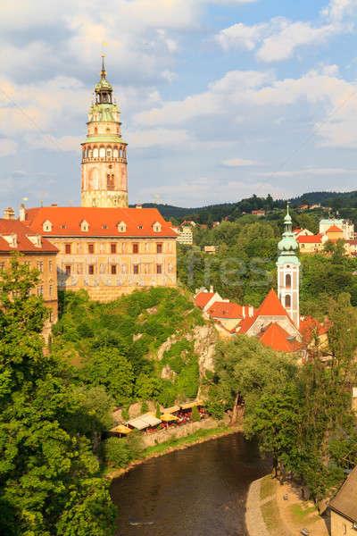 Cesky Krumlov / Krumau, View on Castle und River, UNESCO World H Stock photo © Bertl123