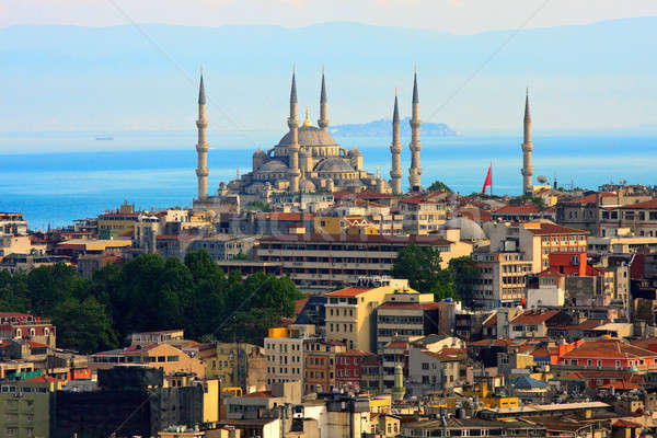 Istanbul skyline with blue mosque and marmara sea in bakcground Stock photo © Bertl123