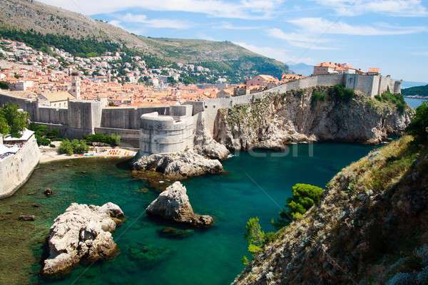 Stock photo: Dubrovnik scenic view on city walls