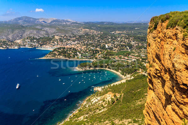 Aerial view on Cassis and Calanque Coast, Southern France Stock photo © Bertl123