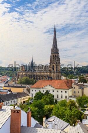 Cityscape yeni katedral Avusturya Bina kilise Stok fotoğraf © Bertl123