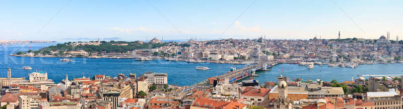 Istanbul Panoramic View from Galata tower to Golden Horn, Turkey Stock photo © Bertl123