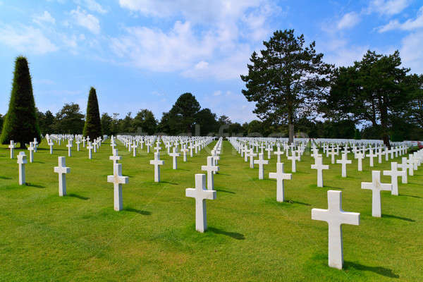 Stock photo: American War Cemetery near Omaha Beach, Normandy (Colleville-sur