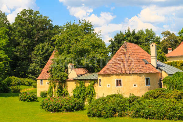 Stock photo: Old town fortification in Trebon (in German Wittingau), Czech Re