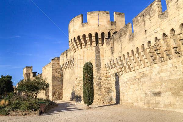 Középkori város fal épület tájkép kék Stock fotó © Bertl123
