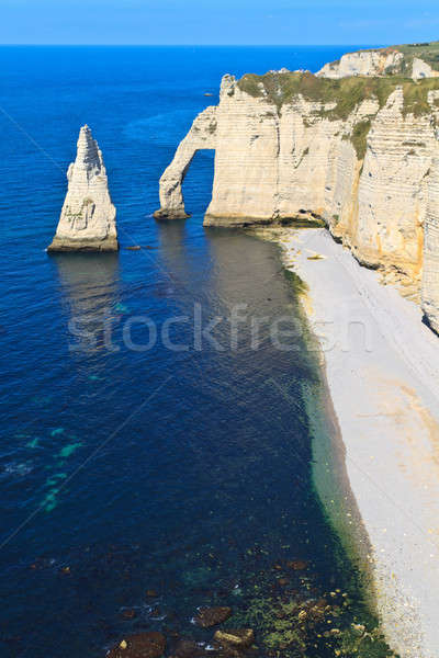 Cliffs of Etretat, Normandy, France Stock photo © Bertl123
