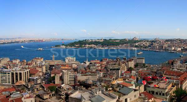 Istanbul Golden Horn Panorama from Galata Tower, Turkey Stock photo © Bertl123