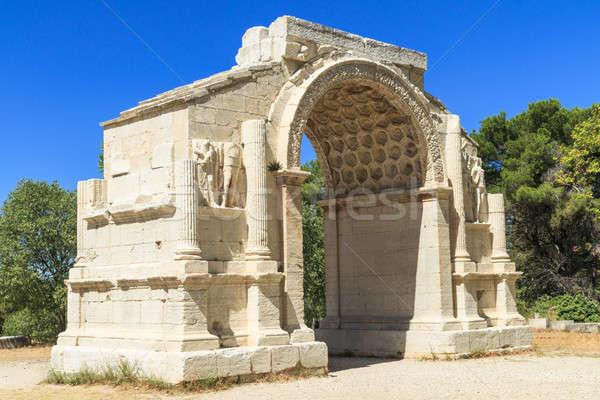 Roman City of Glanum, Triumphal Arch, Saint-Remy-de-Provence, Fr Stock photo © Bertl123