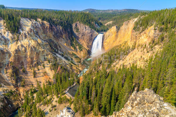 Lower Falls of the Grand Canyon of the Yellowstone National Park Stock photo © Bertl123