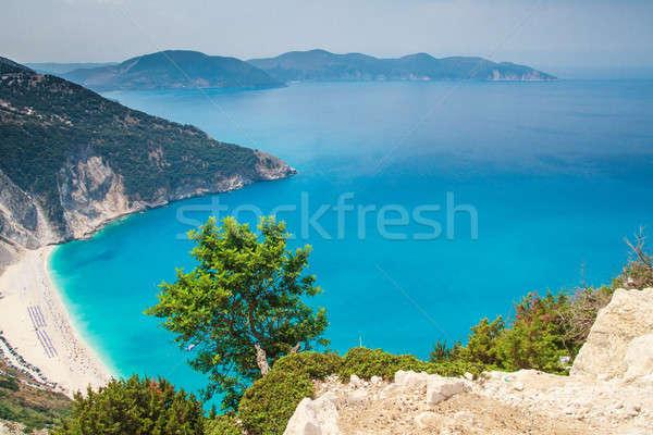 Tengerpart sziget Görögország természet hegy homok Stock fotó © Bertl123