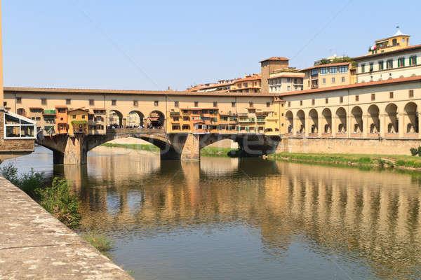 Pont FLORENCE Toscane Italie ciel eau Photo stock © Bertl123