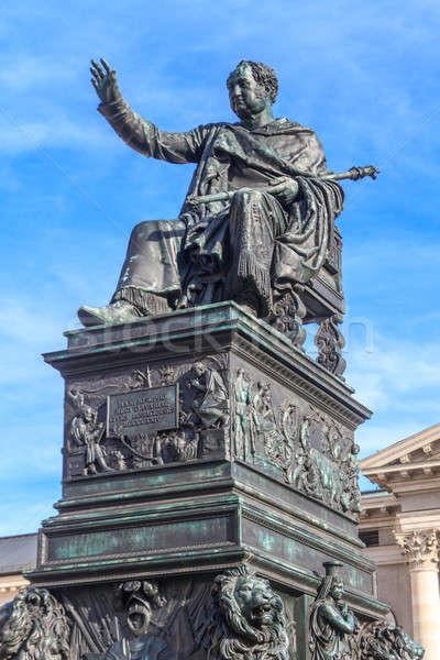 Münih heykel kral opera Almanya müzik Stok fotoğraf © Bertl123
