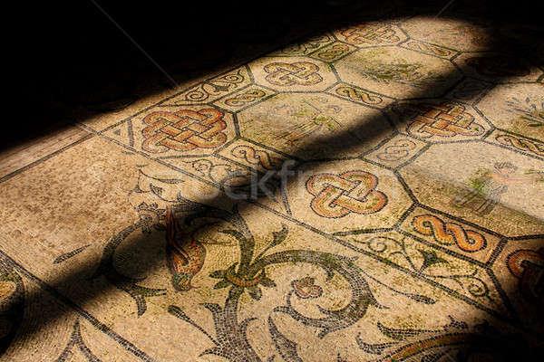 Roma mozaik eski kilise pencere Stok fotoğraf © Bertl123