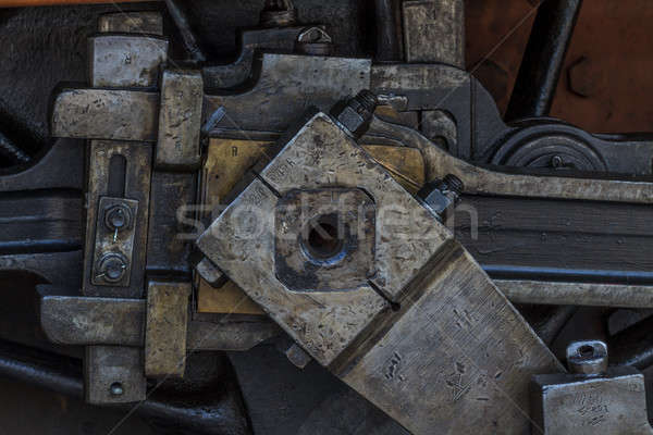 Details of old greasy machinery / steam engine Stock photo © Bertl123
