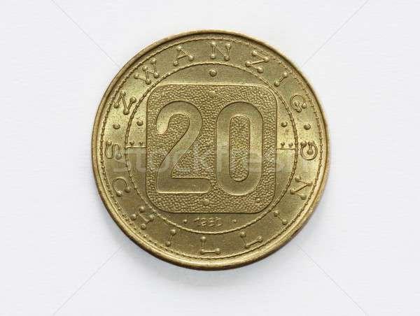 Velho vinte moeda negócio flor dinheiro Foto stock © Bertl123