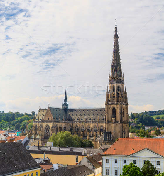Linz Cityscape with New Cathedral, Austria Stock photo © Bertl123