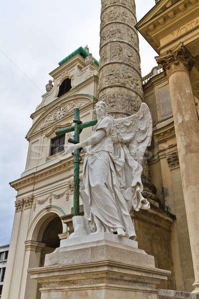 天使 像 クロス 教会 ウイーン オーストリア ストックフォト © Bertl123