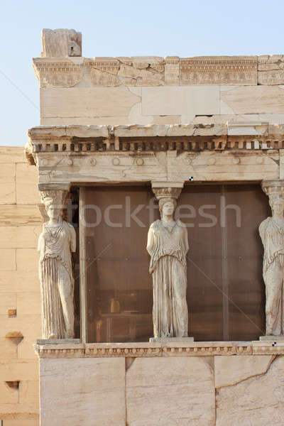 Tapınak Akropol Atina Yunanistan sanat Stok fotoğraf © Bertl123