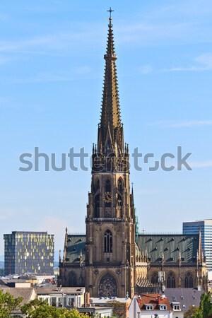 Wien Österreich Licht Kirche Architektur gotischen Stock foto © Bertl123