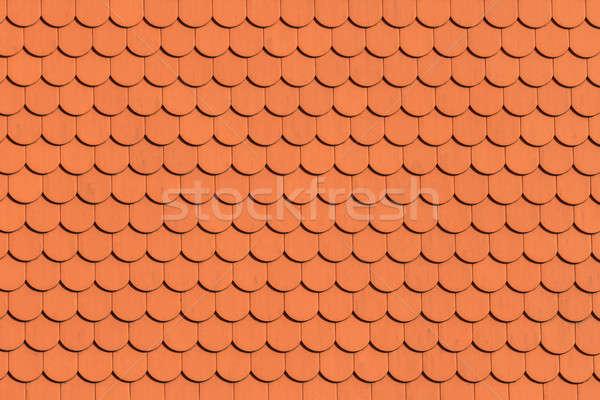 赤 屋根 タイル パターン 家 ストックフォト © Bertl123
