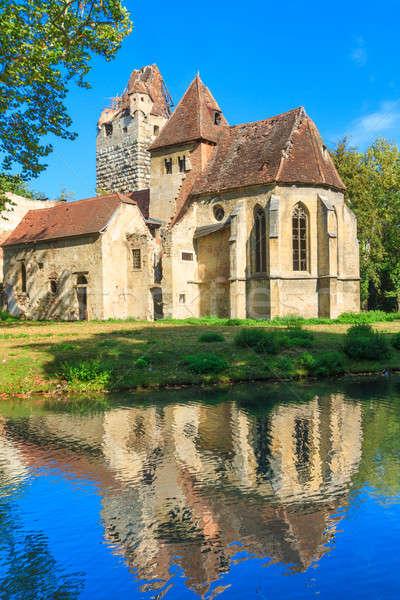 Castelo gótico igreja ruínas água natureza Foto stock © Bertl123
