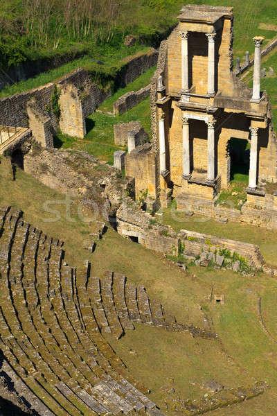 Remains of Roman Amphitheatre in Volterra, Tuscany, Italy Stock photo © Bertl123