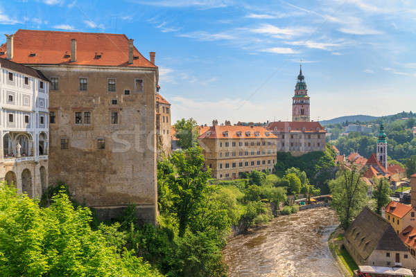 Kasteel toren unesco wereld erfgoed plaats Stockfoto © Bertl123