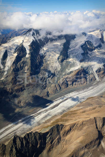 Pasterze Glacier at Großglockner massif - aerial view, Austria Stock photo © Bertl123