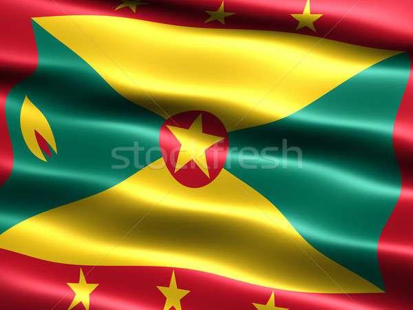 Bandeira Granada computador gerado ilustração sedoso Foto stock © bestmoose