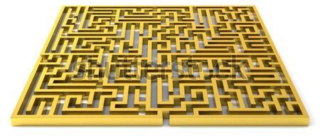 Golden maze Stock photo © bestmoose