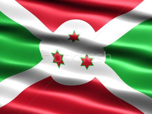 Bandeira Burundi computador gerado ilustração sedoso Foto stock © bestmoose