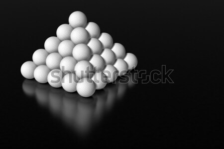 Golf ball pyramid Stock photo © bestmoose