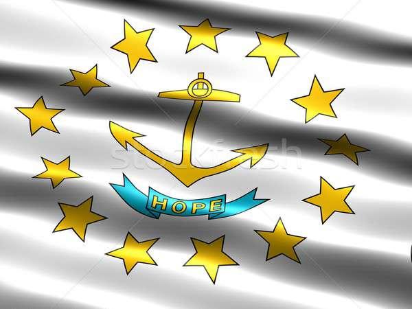 Banderą wyspa komputera wygenerowany ilustracja Rhode Island Zdjęcia stock © bestmoose