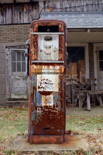 Antique American gas pump Stock photo © bestmoose