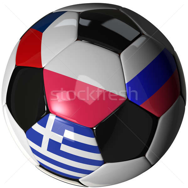 Isolated soccer ball with flags of group A, 2012 Stock photo © bestmoose
